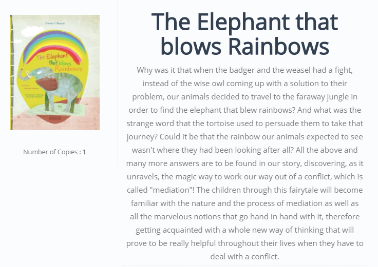 The Elephant that blows Rainbows